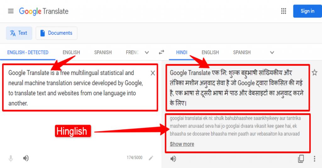 Difference Hindi Or Hinglish